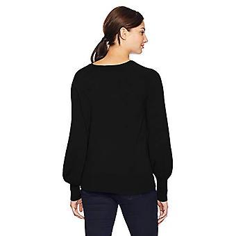 Marke - Lark & Ro Frauen's Pullover V Hals Kaschmir Pullover mit Bell S...