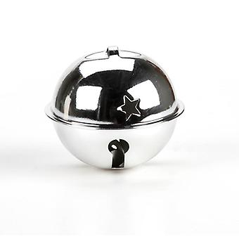 70mm Jumbo Silver Jingle Bell with Star Cutouts for Crafts