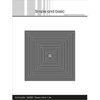 Enkel och grundläggande tunna ramar Square Die