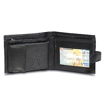 Primehide BASIC - Portefeuille en cuir pour hommes - Blocage RFID - Noir / Brun - 64