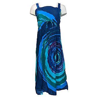 Metropolitan Dress Printed Sleeve Smock Detailed Blue