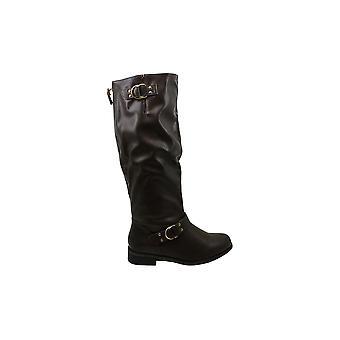 Xoxo Damen MINKLER Leder Geschlossener Toe Knie High Fashion Stiefel