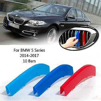 BMW 5-serie 2014-2017 10 bars Clip In Grill M Power Kidney Stripes Cover