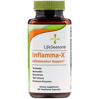 LifeSeasons, Inflamma-X, Inflammation Support, 60 Vegetarian Capsules