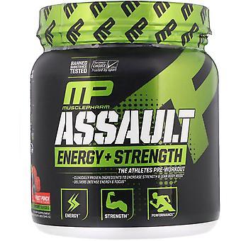 MusclePharm, Assault Energy + Strength, Pre-Workout, Fruit Punch, 0.76 lbs (345