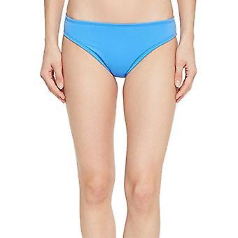 La Blanca Women's Island Goddess Solid Hipster Bikini Swimsuit Bottom, Blue Suede, 16
