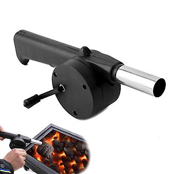 Outdoor portatile Barbecue Mano Fan Cranked Air Blower Bbq Grill Fire Tool per Pic-Nic Camping