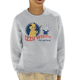 Sooty Retro Izzy Wizzy Let's Get Busy Kid's Sweatshirt
