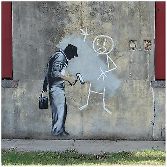 Stampa su tela - Banksy vs. The Gray Ghost in New Orleans - Quadro su Tela, Decorazione Parete