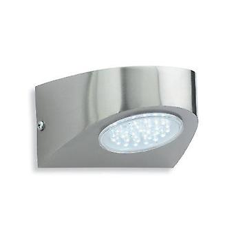 LED buitenwand licht roestvrijstaal, wit IP44