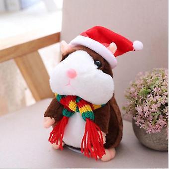 ילדים מדברים אוגר עכבר חיית מחמד רך קטיפה אלקטרונית לדבר קול שיא אוגר בובת צעצוע לילדים חג המולד מתנה Ty0500