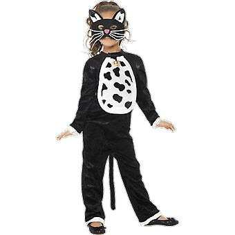 Kids Age 4 - 9 Years Black Cat Fancy Dress Costume