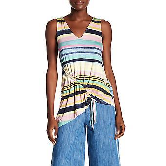 RACHEL Rachel Roy | Striped Asymmetrical Top
