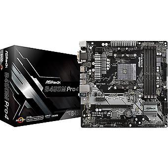 ASRock B450M Pro4 AMD مقبس AM4 MICRO ATX VGA/DVI-D/HDMI DDR4 USB C 3.1 اللوحة الأم