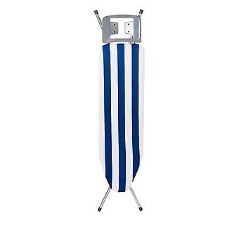 Granit Picallo Metal Ironing Board with Cover | Adjustable Height 69-89cm | 105 x 30cm Mesh Worktop | Blue Stripe