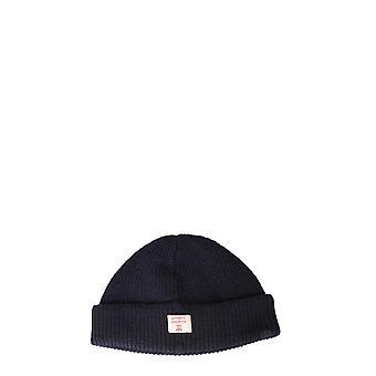 Nigel Cabourn Ncacc1blacknavy Men's Blue Wool Hat