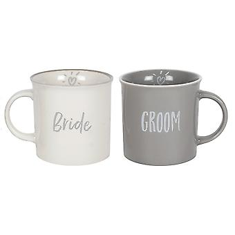 Something Different Bride and Groom Mugs (Set of 2)