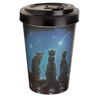 Bamboo Composite Wish Upon a Star Lisa Parker Cat Travel Mug X 1 Pack
