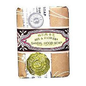 BEE & FLOWER SOAP Bar Soap Sandalwood, 2.65 oz