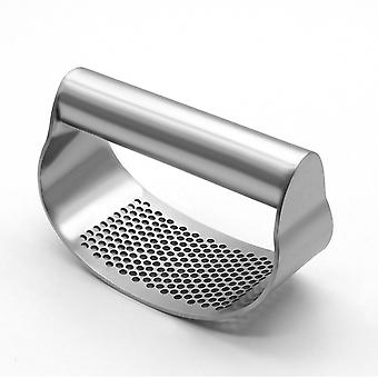 Garlic Press Rocker, Stainless Steel Garlic Crusher