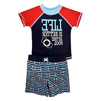 Sol Swim Boys Short Sleeve 2-Piece Rashguard Swimsuit Set | Swimwear for Kids...