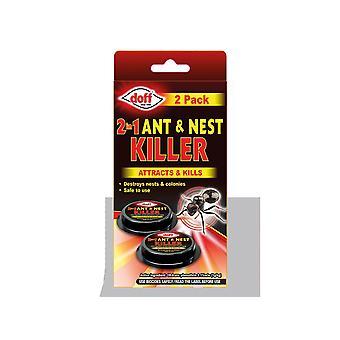 Doff 2 In 1 Ant & Nest Killer Bait Station x 2 DP1090