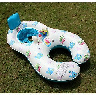 Inflatable Child Swimming Shade Circle Double Newborn Lifebuoy Seat Pool Float