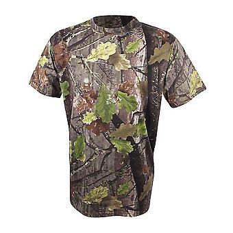 New Jack Pyke Men's Evolution Oak Short Sleeve T-Shirt Brown