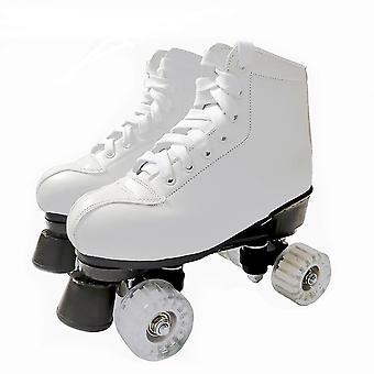 Artificial Leather Roller Skates, Double Line, Women, Men, Adult Shoes Patines