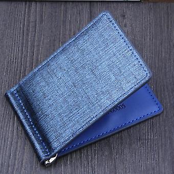 Men Bifold Business Leather Walletid Credit Card &visiting Cards Wallet