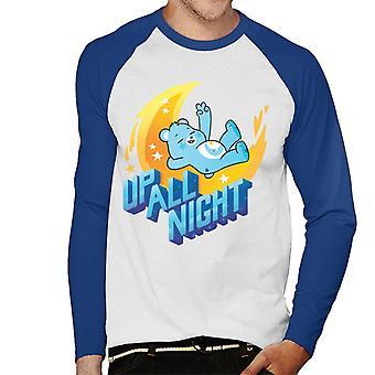Care Bears Avaa Magic Up All Night Men's Baseball Pitkähihainen T-paita
