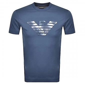 Emporio Armani Eagle Logo T-Shirt Bleu 6H1TR7 1JSHZ