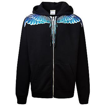 Marcelo Burlon Cmbe001e20fle011043 Men's Black Cotton Sweatshirt