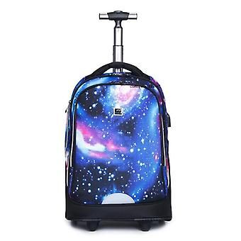 "Travel Tale 20"" Inch Carry On Lazy School Rolling Trolly Bag / Travel Backpack"