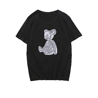 Naiset T-paita Karhu Print Kauhu Gootti Punk Hip Hop Fun Tosit Sarjakuva Ajanviete