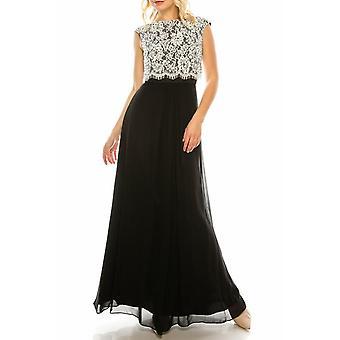 Süslenmiş Dantel Üst A-line Gece Elbisesi