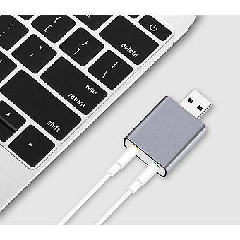 Hliník 7,1 kanál USB externý stereo zvukový audio adaptér pre Android Linux