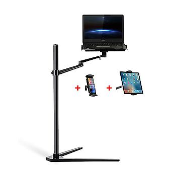 Multifunctional 3in1 Computer Floor Stand For All Laptop/tablet Pc/smartphone