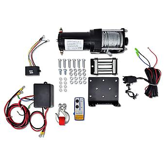 12V Electric winch 1360kg + mounting plate remote control