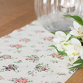 Vintage Beige Flower Floral Table Runner 5m Long