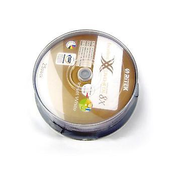 25Pcs Ritek Ridata Dvd R Double Layer White Top Printable