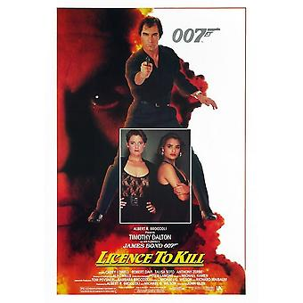 James Bond Licence To Kill Postcard