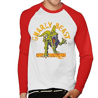 Jurassic Park Gnarly Beast Men's Baseball Long Sleeved T-Shirt