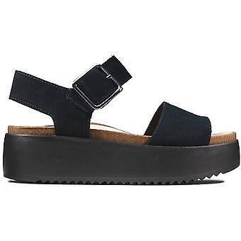 Clarks botanische Riemen Sandalen Damen schwarz