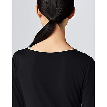 Meraki Women's Twist Midi Dress,  Black, EU L (US 10)
