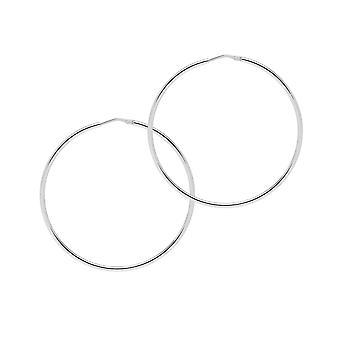 The Hoop Station Chica Latina Silver 55 Mm Hoop Earrings H168S