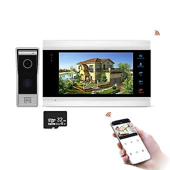 7inch Monitor Video Intercoms Home Security System Video Doorbell Door Phone