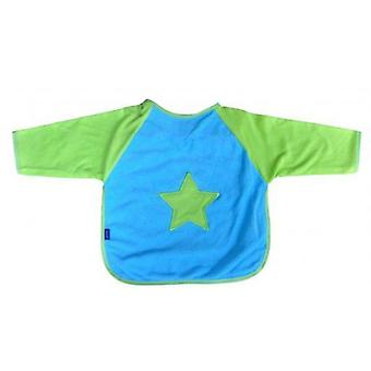 Playgro Bib with Green and Blue Sleeves and Lining Inside