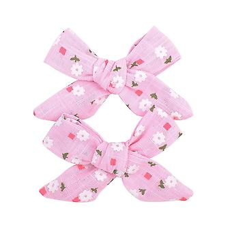 Boutique Grosgrain Ribbon Printed Bows With Clips