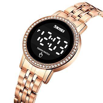 SKMEI 1669 Moda Damska zegarek Data Wyświetlacz ze stali nierdzewnej Pasek LED Digital W